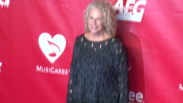 carole king at 2014 musicares person of the year honoring carole king at los angeles convention center on in los angeles california - musicares foundation stock videos & royalty-free footage