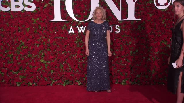 carole king at 2016 tony awards red carpet at the beacon theatre on june 12 2016 in new york city - 70th annual tony awards stock videos and b-roll footage