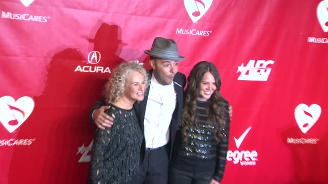 carole king jesse huerta and joy huerta at 2014 musicares person of the year honoring carole king at los angeles convention center on in los angeles... - musicares foundation stock videos & royalty-free footage