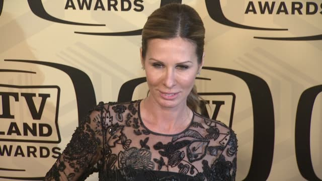 carole radziwill at tv land awards 10th anniversary arrivals at lexington avenue armory on april 14 2012 in new york ny - tv land awards stock videos and b-roll footage