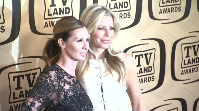 carole radziwill aviva drescher at tv land awards 10th anniversary arrivals at lexington avenue armory on april 14 2012 in new york ny - tv land awards stock videos and b-roll footage