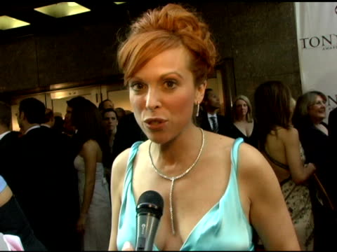carolee carmello nominee for featured actress in a musical on working with an elton john bernie taupin score at the 60th annual tony awards at radio... - radio city music hall stock videos & royalty-free footage