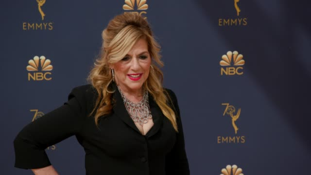 caroline aaron at the 70th emmy awards arrivals at microsoft theater on september 17 2018 in los angeles california - 70th annual primetime emmy awards stock videos and b-roll footage
