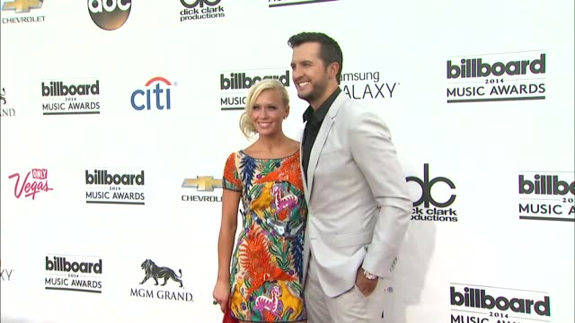 Caroline Bryan and Luke Bryan at the 2014 Billboard Music Awards Arrivals at the MGM Grand Garden Arena on May 18 2014 in Las Vegas Nevada