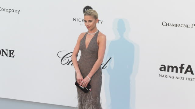 Caroline Daur at the amfAR Cannes Gala 2019 Arrivals at Hotel du CapEdenRoc on May 23 2019 in Cap d'Antibes France