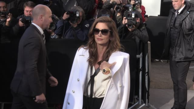 Caroline de Maigret The Haim sisters Este Danielle and Alana Haim Cindy Crawford and more arriving for the Chanel Ready to Wear Spring Summer 2018...