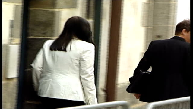 montes trial itn france rennes ext amy white leaving court pan - rennes frankreich stock-videos und b-roll-filmmaterial