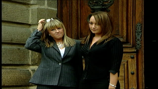 montes trial itn france rennes photography*** kate wrigley and jenna ellis posing outside court cms kate wrigley cms kate wrigley and jenna ellis... - rennes frankreich stock-videos und b-roll-filmmaterial