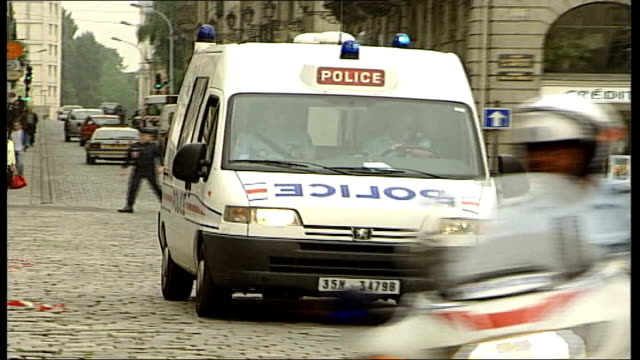montes guilty of murder itn france rennes ext prison van carrying montes along from court - rennes frankreich stock-videos und b-roll-filmmaterial