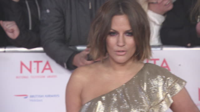 Caroline Flack at National Television Awards at The O2 Arena on January 23 2018 in London England