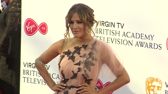 caroline flack on the red carpet at the 2018 bafta television awards - 2018 stock videos & royalty-free footage