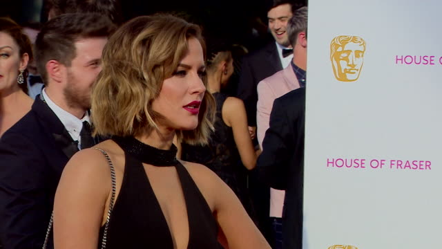 caroline flack red carpet arrival shots at the bafta television awards 2016 - british academy television awards stock videos & royalty-free footage