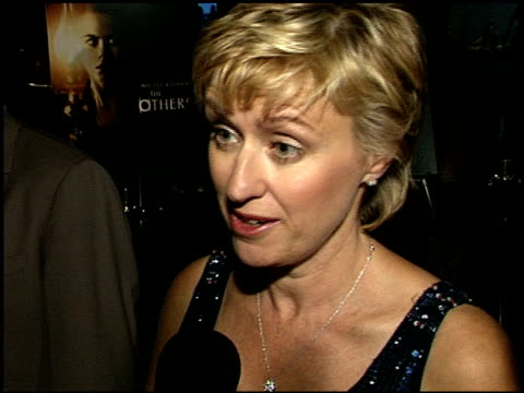 caroline goodall at the premiere of 'the others' at dga theater in los angeles california on august 7 2001 - dga theater stock videos & royalty-free footage
