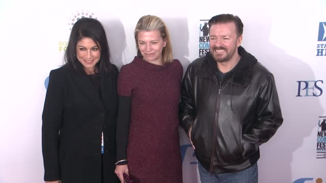 caroline hirsch jane fallon and ricky gervais at the 6th annual stand up for heroes presented by the new york comedy festival and the bob woodruff... - beacon theatre stock videos and b-roll footage