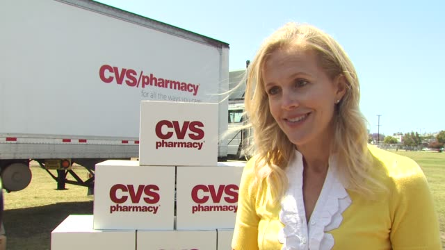 caroline kunitz on the diaper drive at the cvs/pharmacy 's biggest playdate' at los angeles ca. - cvs caremark stock videos & royalty-free footage