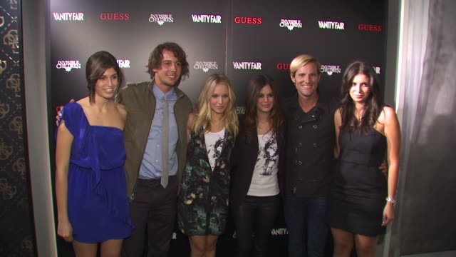 caroline marciano laren poole kristen bell rachel bilson jason russell olivia marciano at the guess vanity fair tshirt launch event to benefit... - vanity fair stock videos and b-roll footage