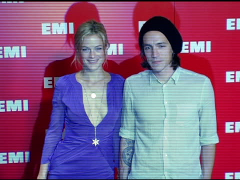 caroline murphy and brandon boyd at the emi post-grammy awards bash at the beverly hilton in beverly hills, california on february 13, 2005. - emi grammy party stock videos & royalty-free footage