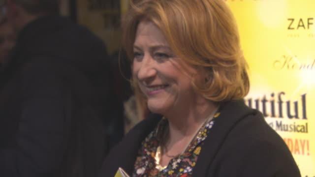 caroline quentin at beautifulthe carole king musical's birthday celebrations at aldwych theatre on february 23 2016 in london england - aldwych theatre stock videos & royalty-free footage