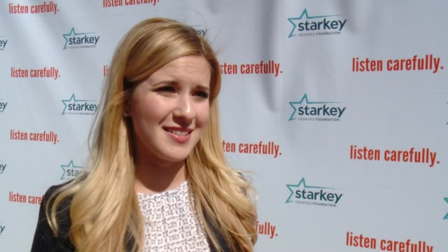 interview caroline sunshine on the event preventing hearing loss at starkey hearing foundation's listen carefully concert with aloe blacc in los... - カリフォルニア州アーバイン点の映像素材/bロール