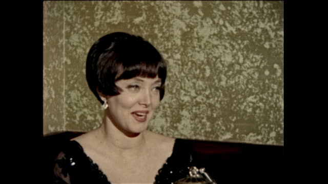 carolyn jones interview carolyn jones played the part of morticia addams on the addams family tv show carolyn sue jones was an american actress of... - tv interview stock videos and b-roll footage