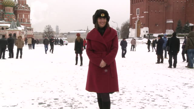 carolyn mccall chief executive of easyjet in snowy red square wearing fur hat to mark inaugural flight of airline's route to moscow - businesswoman stock videos & royalty-free footage