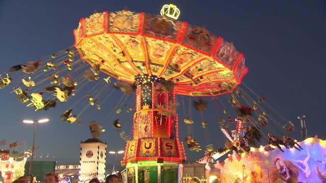 carousel at night - oktoberfest stock videos & royalty-free footage