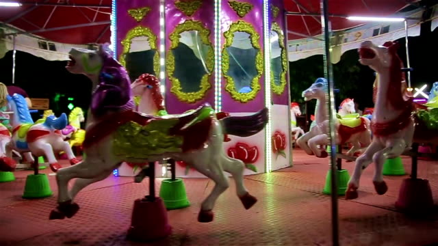 carousel for kids,fun concepts - roundabout stock videos and b-roll footage