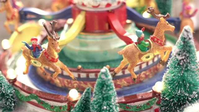 carousel gift christmas - winter stock videos & royalty-free footage