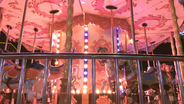 carousel horse - carousel horse stock videos and b-roll footage