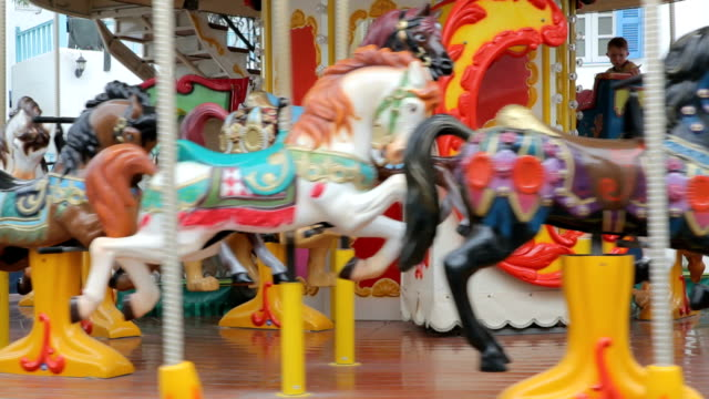 carousel horse - fairground stock videos and b-roll footage