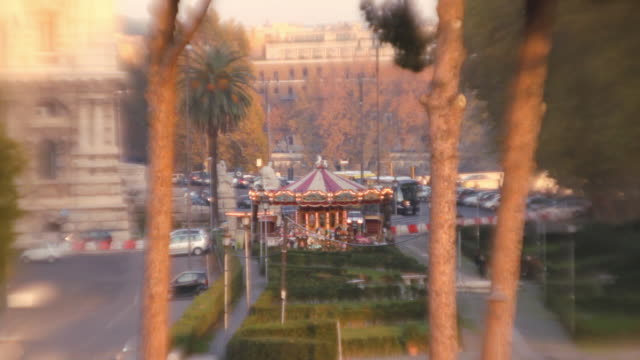 A Carousel in Rome from a distance