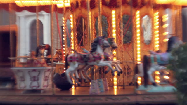 a carousel in rome - carousel stock videos and b-roll footage