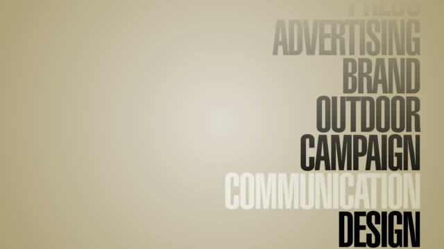 Carousel Of Advertising Words HD