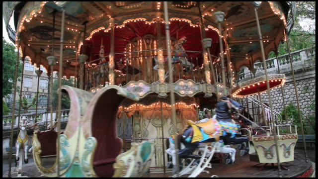 carousel or merry-go-round, france, paris - bizarre fashion stock videos and b-roll footage