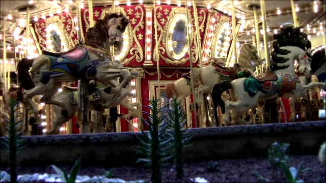 carousel - carousel horse stock videos and b-roll footage