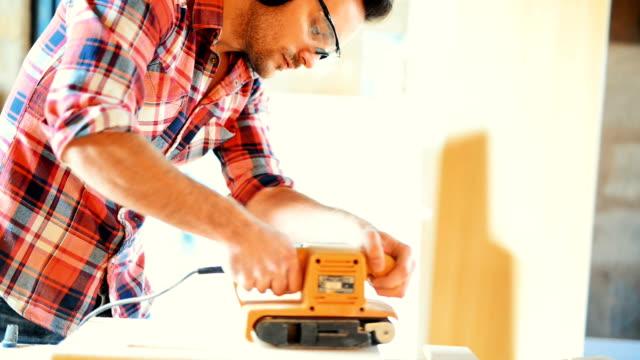 Carpenter at a workshop.
