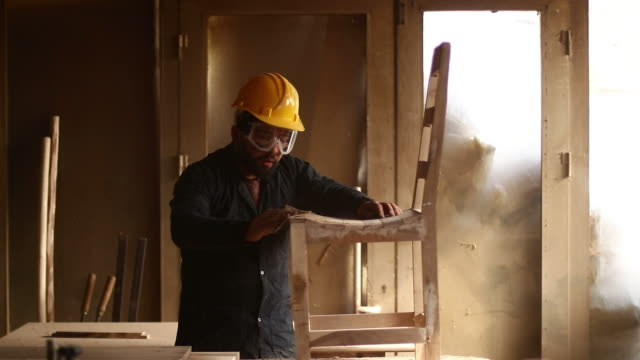 carpenter at work - sander stock videos & royalty-free footage