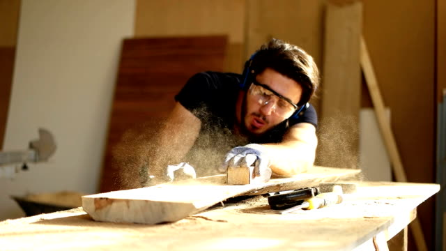 carpenter at work - carpenter stock videos & royalty-free footage