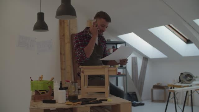 4K: Carpenter in his workshop