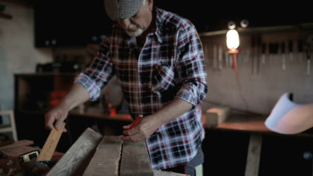 carpenter in his workshop - repairman stock videos & royalty-free footage