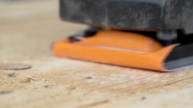 carpenter sanding white oak - sander stock videos & royalty-free footage