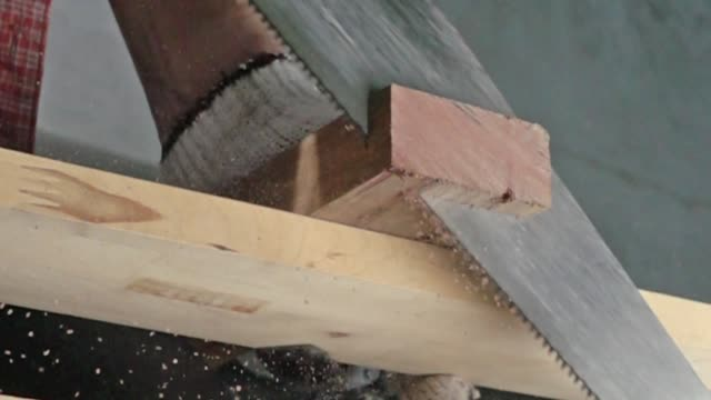 carpenter saw wood - fence stock videos & royalty-free footage