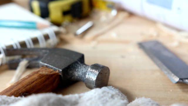 carpenter tools - workbench stock videos & royalty-free footage