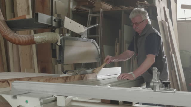 carpenter working in carpentry shop - leipzig saxony stock videos & royalty-free footage