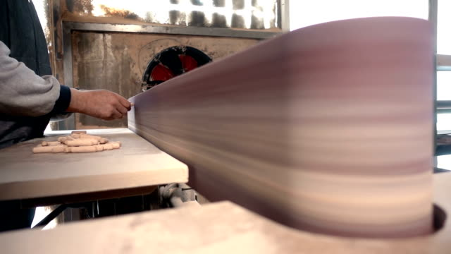 carpenter working with sandpaper polishing machine - woodland stock videos and b-roll footage