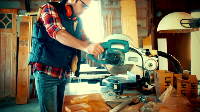 carpentry workshop routine. - carpenter stock videos & royalty-free footage