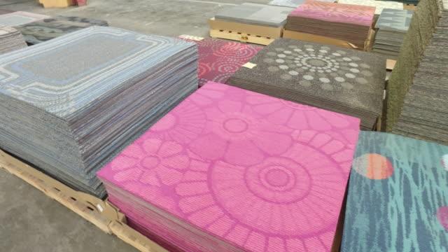 carpet tile - kachel stock-videos und b-roll-filmmaterial
