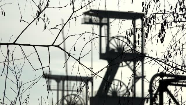 carreau wendel museum coal pit musuem, petite-rosselle, lorraine, france - lorraine bildbanksvideor och videomaterial från bakom kulisserna