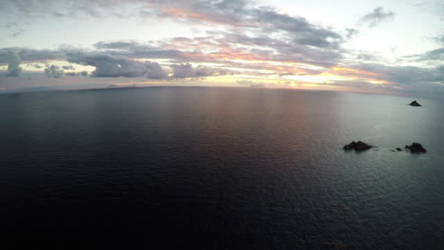 vídeos y material grabado en eventos de stock de 4k carribean aerial sunset. - territorios franceses de ultramar