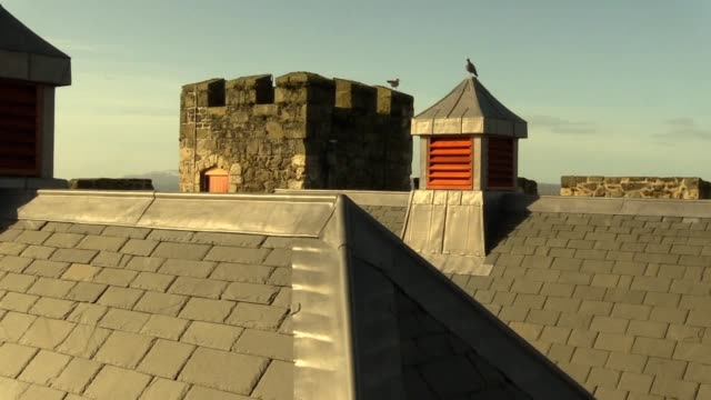 carrickfergus castle has a new roof after a £1 million conservation project the great tower had been leaking at the centuriesold fortification which... - fortress stock videos & royalty-free footage